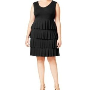 Style & Co. Plus Size Tiered Midi Dress